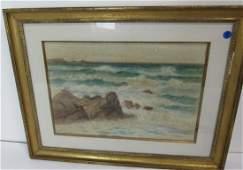 W.E.Croxford Signed Watercolor Seascape.