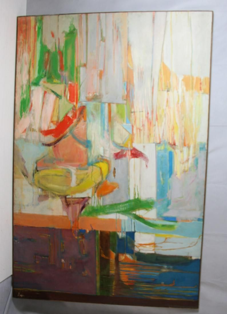 Steve Jaffe Oil On Canvas Abstract