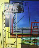 Steve Jaffe Oil On Canvas Large Abstract Oil