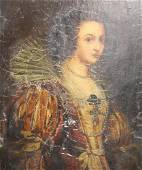 UNSIGNED .Oil On Gessoe On Panel Old Master