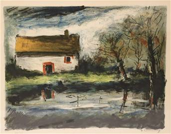 Maurice Vlaminck. Signed & Numbered Lithograph