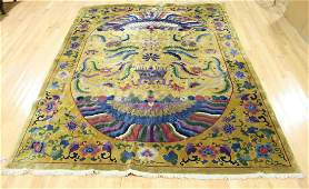 Art Deco And Finely Woven Chinese Carpet.