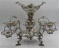 SILVER. James Dixon & Sons English Silver Epergne.
