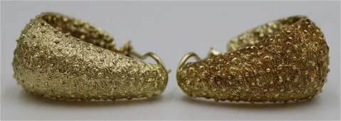 JEWELRY Pair of Henry Dunay 18kt Gold Earrings
