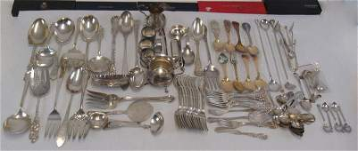 SILVER Assorted Grouping of Sterling Flatware and