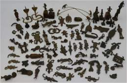 Grouping of African Ashanti Akan Metal and Bronze
