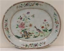 Antique Famille Rose Export Porcelain Platter.