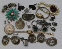 JEWELRY Assorted Gold Silver and Costume Jewelry