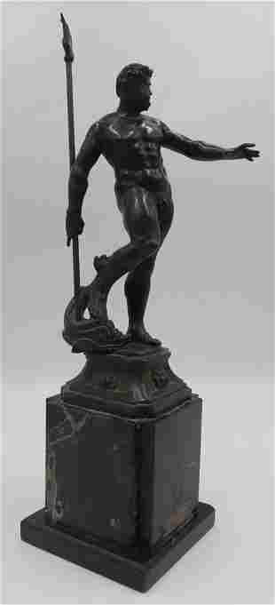 Late 19th/Early 20th C Grand Tour Bronze Neptune.