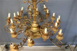 Antique Gilt And Tole Italian Chandelier