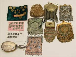 STERLING. Grouping of Buttons and Whiting & Davis
