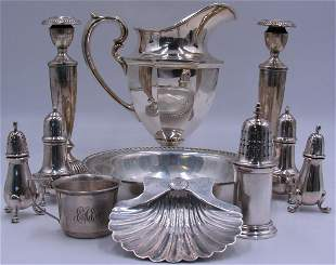 STERLING. Grouping of Assorted Sterling