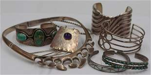 JEWELRY. Assorted Grouping of Silver Jewelry.