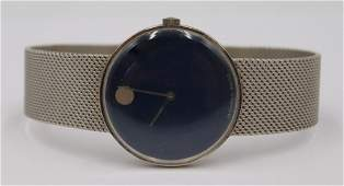 JEWELRY. Vintage Movado 14kt White Gold Watch.