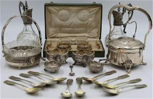 SILVER. Assorted Grouping of Continental Silver,