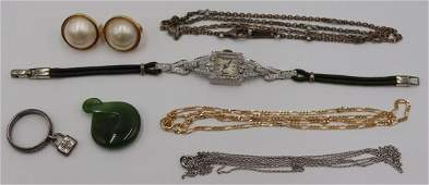 JEWELRY. Assorted Gold & Silver Jewelry Grouping.