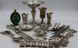 SILVER. Assorted Grouping of Silver Hollowware