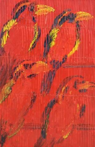 HUNT SLONEM (AMERICAN, b. 1951).