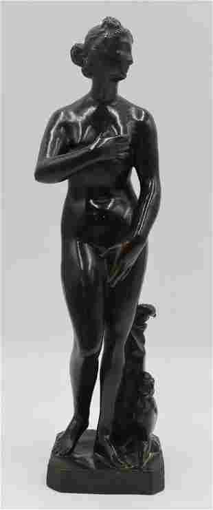 Antique Bronze Figure of Venus de Medici.