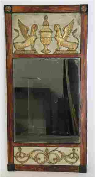 Antique Egyptian Revival Trumeau Style Mirror