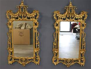 A Vintage Pair Of Giltwood Chinese Chippendale