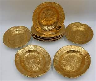 10 Minton Porcelain Turtle Soup Bowls.