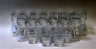 """A Lot Waterford """"Castletown"""" Cut Glasses."""