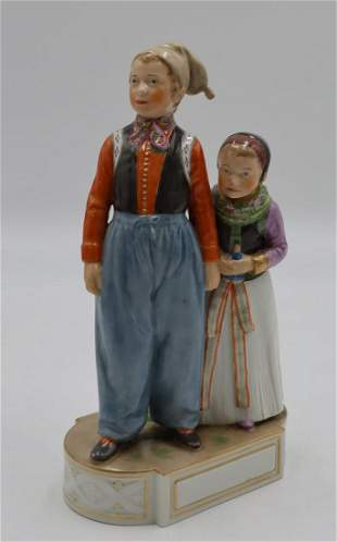 Royal Copenhagen Porcelain Figure Of An Amagen