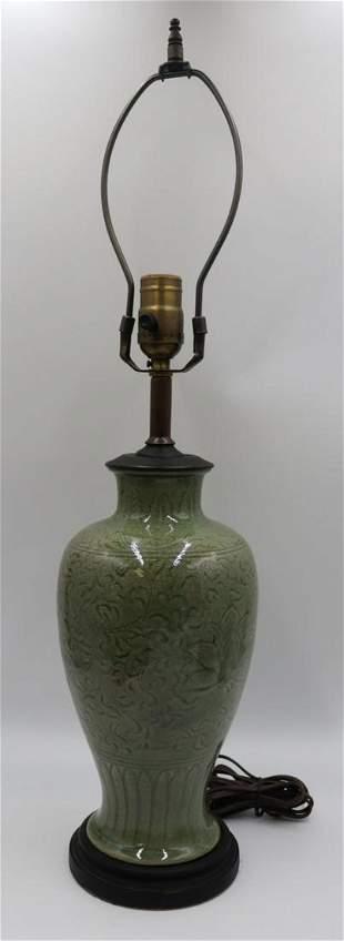 Chinese Longquan Celadon Vase.