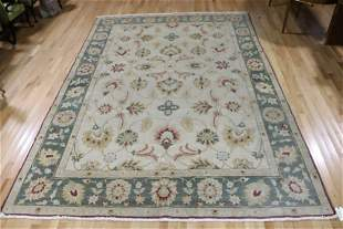 Vintage And Finely Hand Woven Oushak Style Carpet