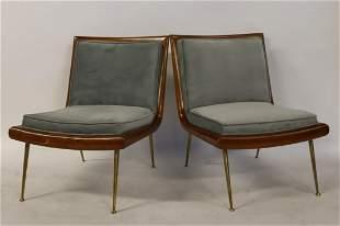 Pair Of Robsjohn - Gibbings Slipper Chairs.