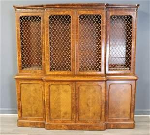 Fine Victorian Walnut Bookcase / Cabinet.