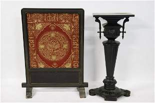 Victorian Aesthetic Wood Pedestal & A Victorian