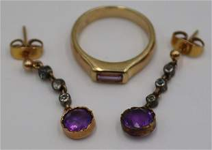 JEWELRY. Assorted Amethyst and 14kt Gold Jewelry.