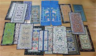 (17) Pairs of Asian Embroidered Robe Sleeves.