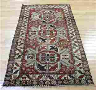 Antique And Finely Hand Woven Kazak Style