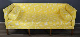 Midcentury Style Contemporary Upholstered Sofa.