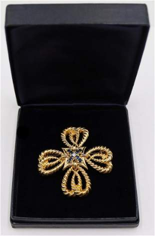 JEWELRY. Tiffany & Co. 18kt Gold, Sapphire and
