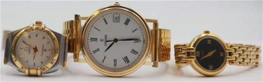 JEWELRY. Grouping of Gold and Stainless Watches.