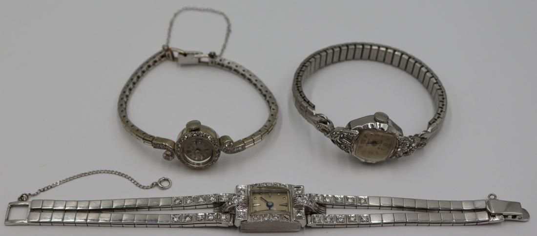 JEWELRY. Assorted Grouping of Ladies Gold Watches.