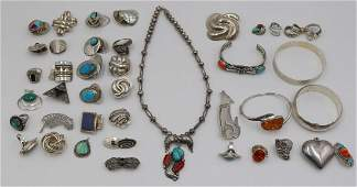 JEWELRY. Assorted Grouping of Native American and