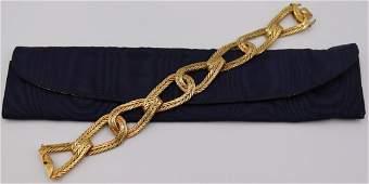 JEWELRY. M. Buccellati 18kt Gold Woven Bracelet.