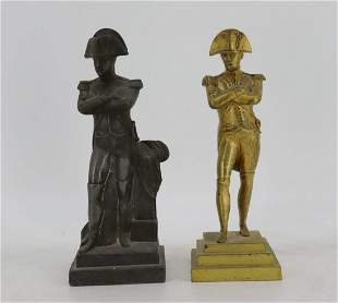 Antique Gilt Bronze Napoleon Together With A Metal