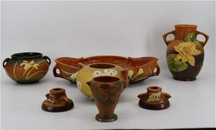 ROSEVILLE Pottery Grouping Of 7 Items.