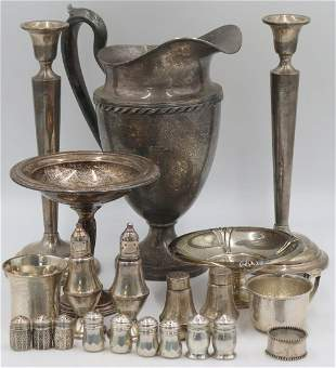 STERLING. Assorted Grouping of Sterling Hollowware