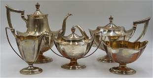 STERLING. 5 Pc. Gorham Plymouth Tea Service.