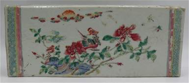 Chinese Famille Rose Opium Pillow.