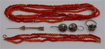 JEWELRY. Assorted Grouping of Gold & Silver