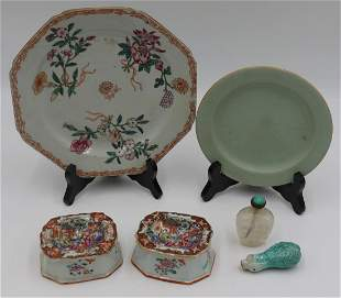 Assorted Chinese Porcelain and Snuff Bottles.