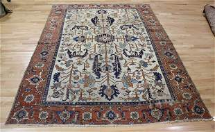 Antique & Finely Hand Woven Serapi Style Carpet